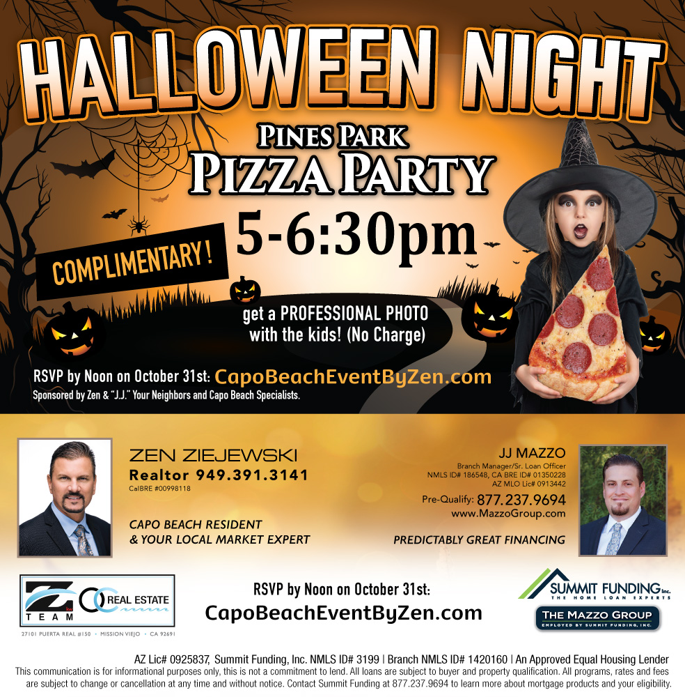 Halloween Pizza Party Graphic - Email Blast