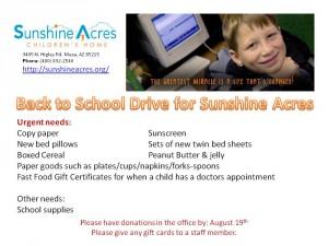 Sunshine Acres back to school drive 07-2016 (1)