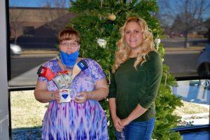 Tiffany Spero Merry Mondays Week 2 winner with Sharla Evans
