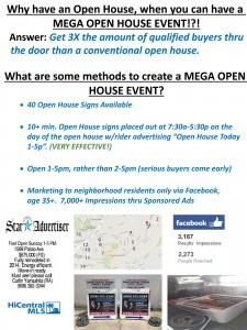 Mega Open House Events..call Carlin 808.392