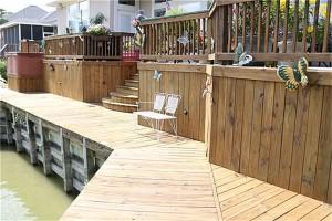 view of deck shoreline rd
