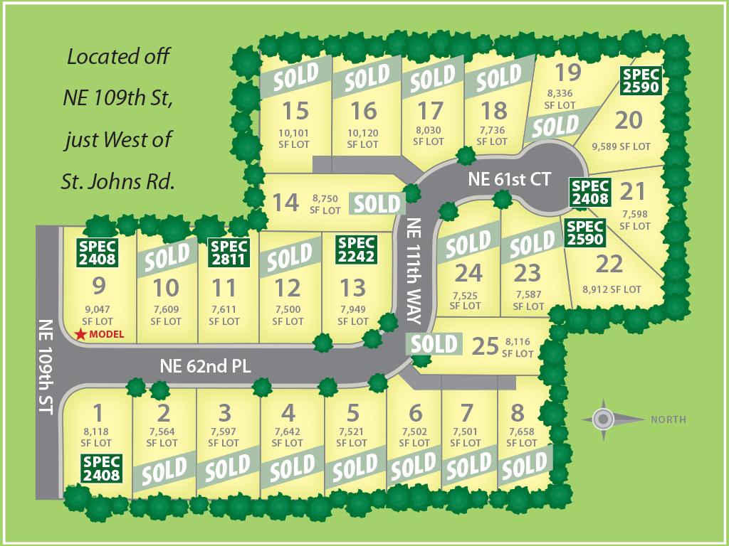 Winston Estates Plat Map August 24, 2017