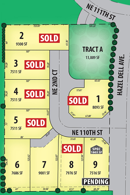 Parkridge Plat Map New Homes by Brighten Homes in Felida, Vancouver WA