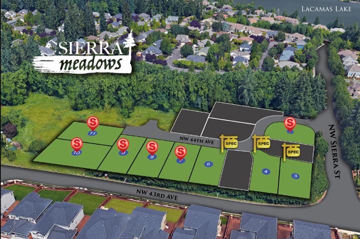 Sierra Meadows in Camas WA. New homes by Cascade West