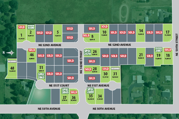 The Heights at Pleasant Valley plat map - New energy efficient homes by Glavin Homes