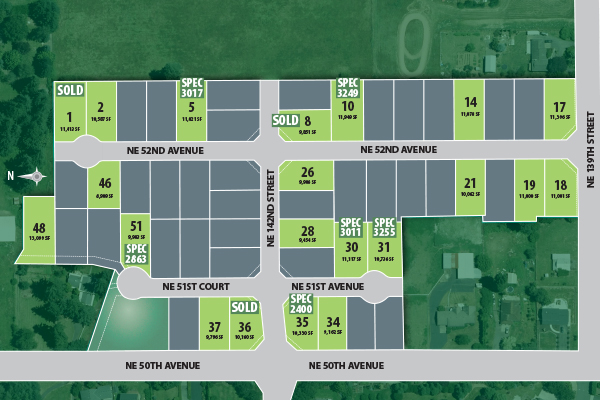 The Heights at Pleasant Valley plat map