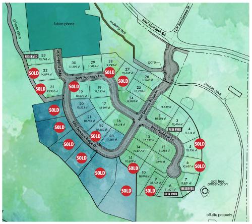 Dawson's Ridge plat map, 2019 Parade of Homes located in Camas, WA updated 3/4/2019