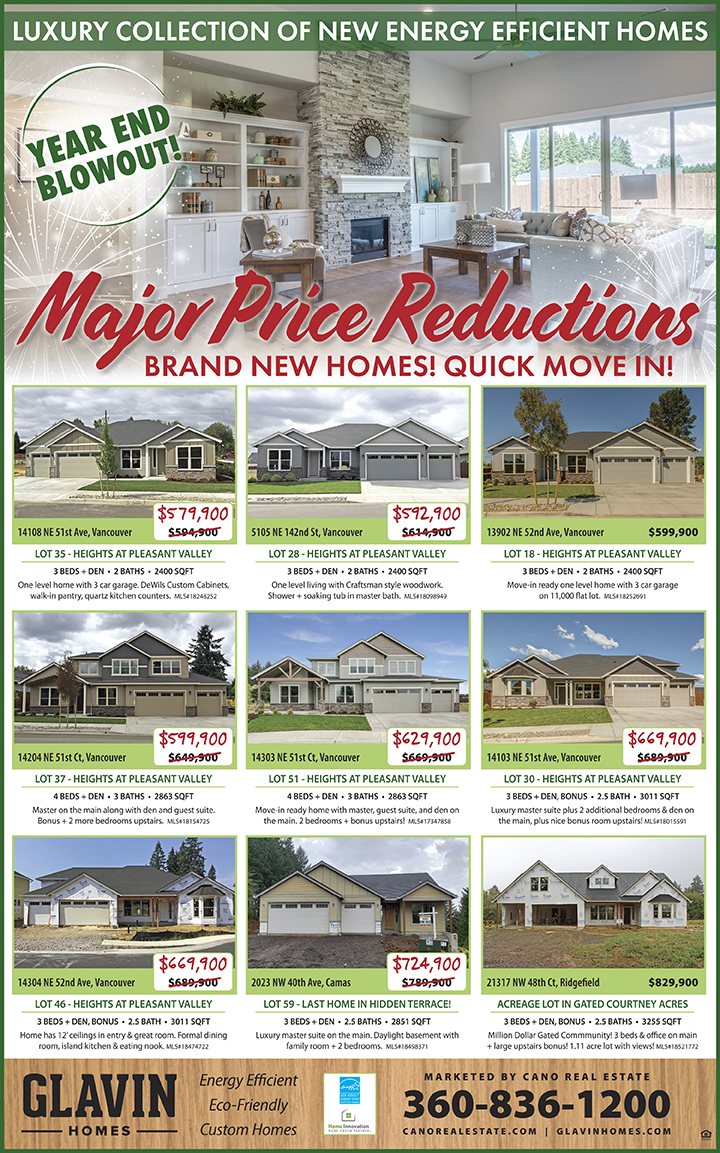 Glavin Homes major price reduction Heights at Pleasant Valley
