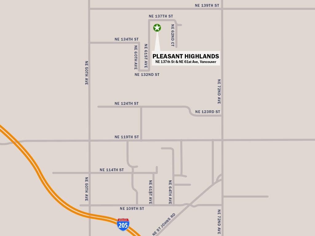 Glavin Homes - Pleasant Highlands Location Map