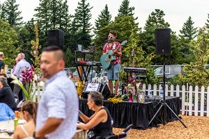 Tony Smiley provides music for VIP night