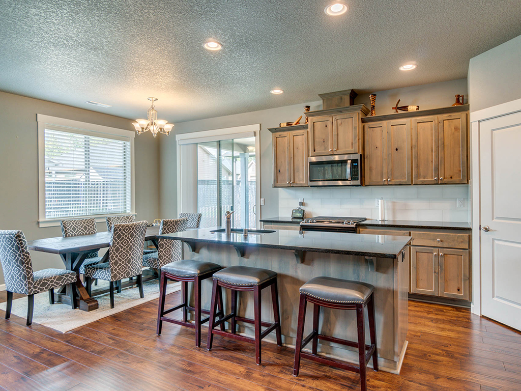 Kitchen with island - 153 Zephyr Dr, Silver Lake, WA 98645