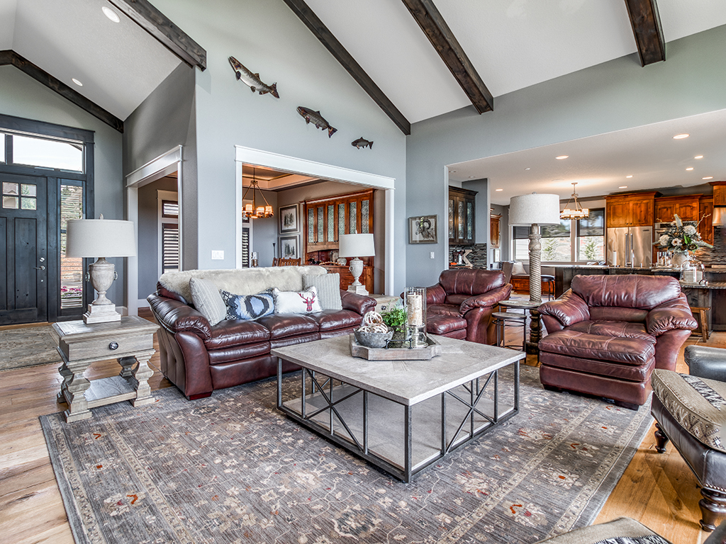 Great room, formal dining, and kitchen - 307 Milky Way Dr, Woodland, WA 98674