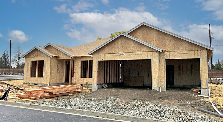 Home under construction in Vancouver, Washington