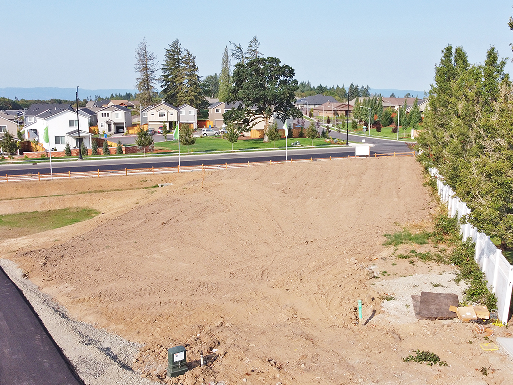 Zephyr Point Lot 1 - ground level August 30, 2021