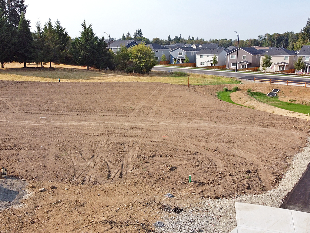 Zephyr Point Lot 2 - ground level August 30, 2021