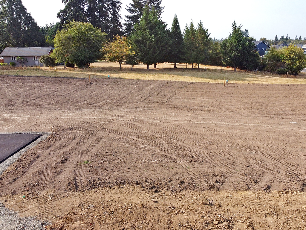 Zephyr Point Lot 3 - ground level August 30, 2021
