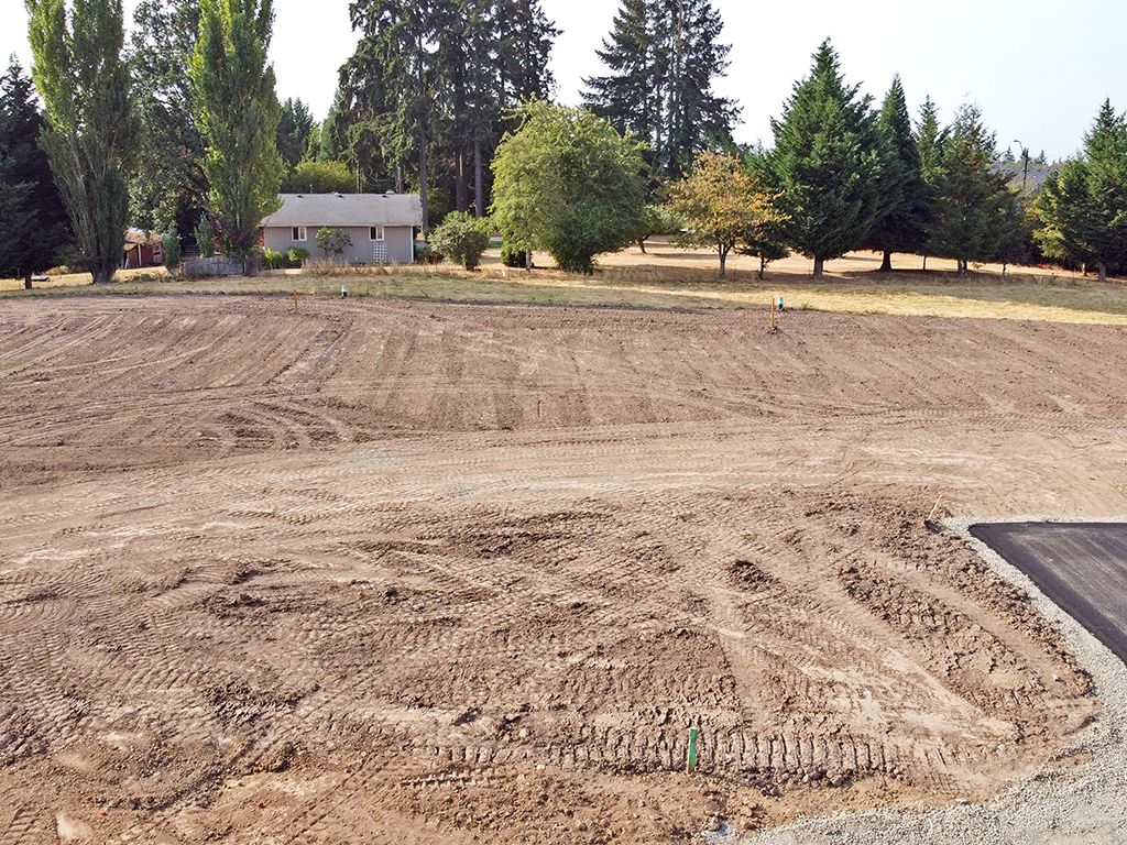 Zephyr Point Lot 4 - ground level August 30, 2021
