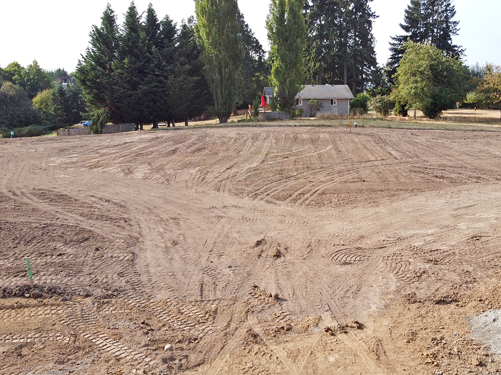 Zephyr Point Lot 5 - ground level August 30, 2021