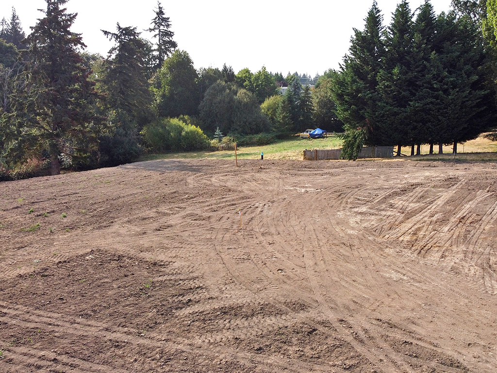 Zephyr Point Lot 6 - ground level August 30, 2021