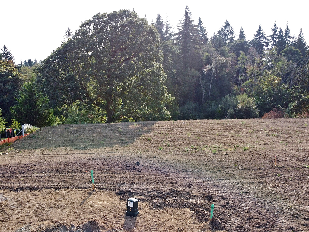 Zephyr Point Lot 7 - ground level August 30, 2021