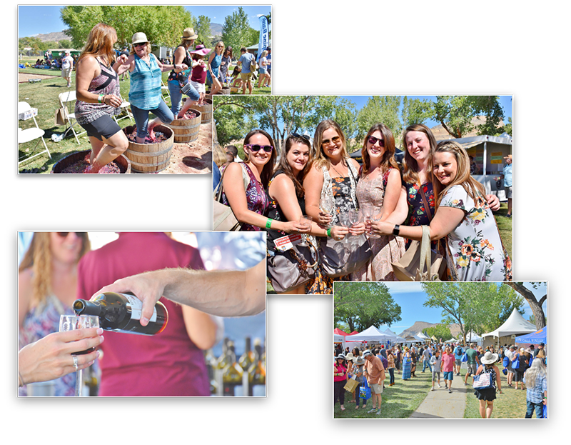 Collage of Happy People Attending the Colorado Winefest