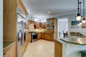 Open floor plan and kitchen