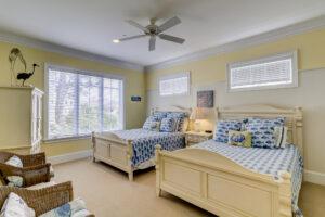 Carpeted floors in bedrooms