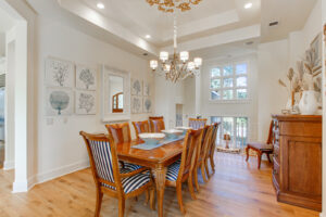Formal Dining area with Tray ceilings