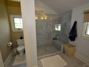 Master bathroom at 12 Brewster Court
