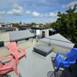 Rooftop terrace at 12 Brewster Court