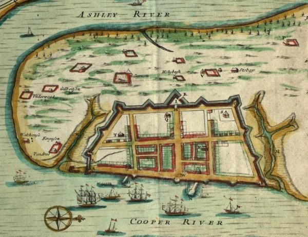 Charleston SC Walled City Map