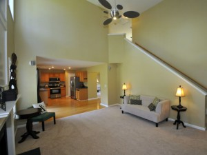 Family room at 1405 Water Edge Drive