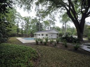 Pool & guest house at 204 Tea Farm Road