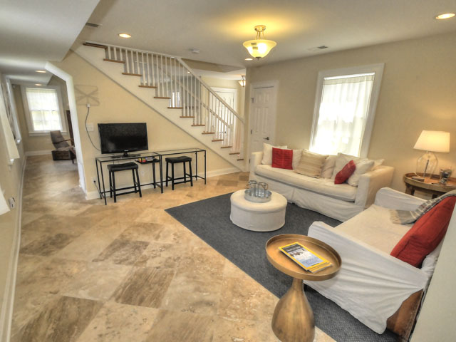 Updated Wagener Terrace living room at 19 Gordon Street