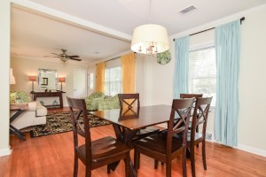 Dining room at 822 Quail Drive