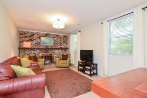 Family room at 822 Quail Drive