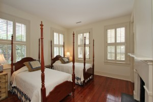 One of three bedrooms at 15 Montagu Street