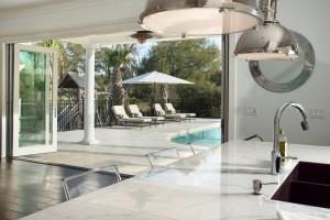 79 Dalton pool house with accordian glass door