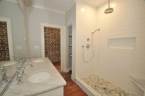 Renovated bath at 184 East Bay Street