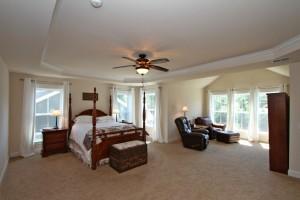 Master bedroom at 1353 Scotts Creek