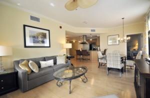 Living room at 102 Village Garden