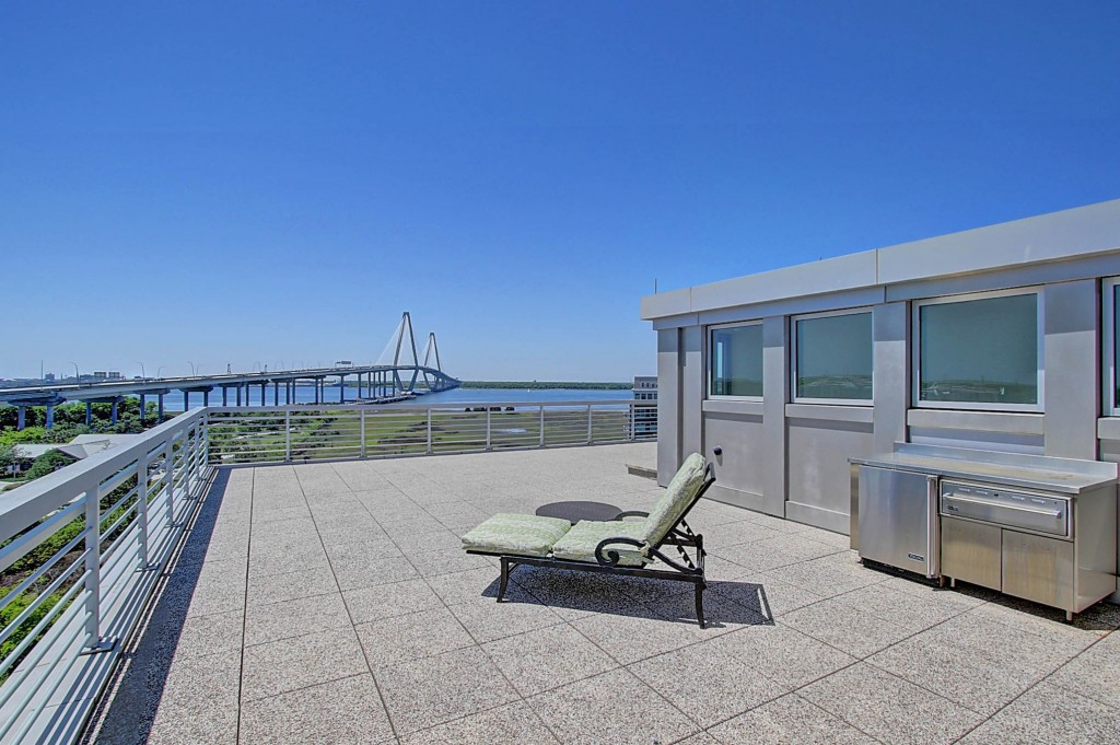 Rooftop deck at 261 Cooper River Drive