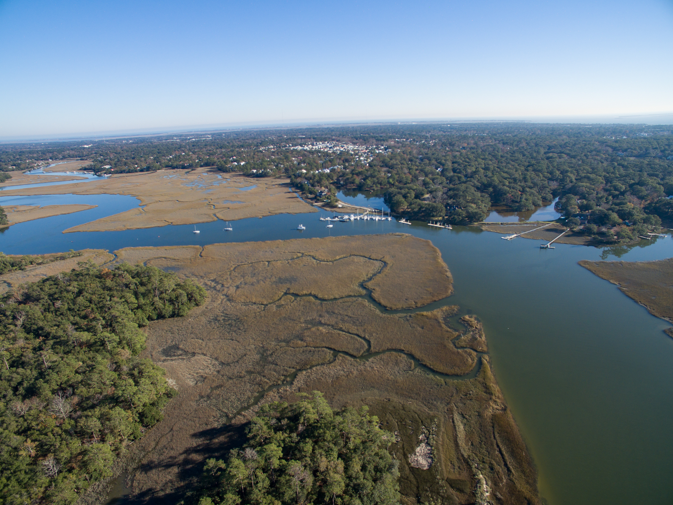 Aerial view of The Shipyard site in Mount Pleasant, SC