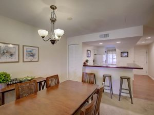 Dining room & kitchen at 75 Mariners Cay