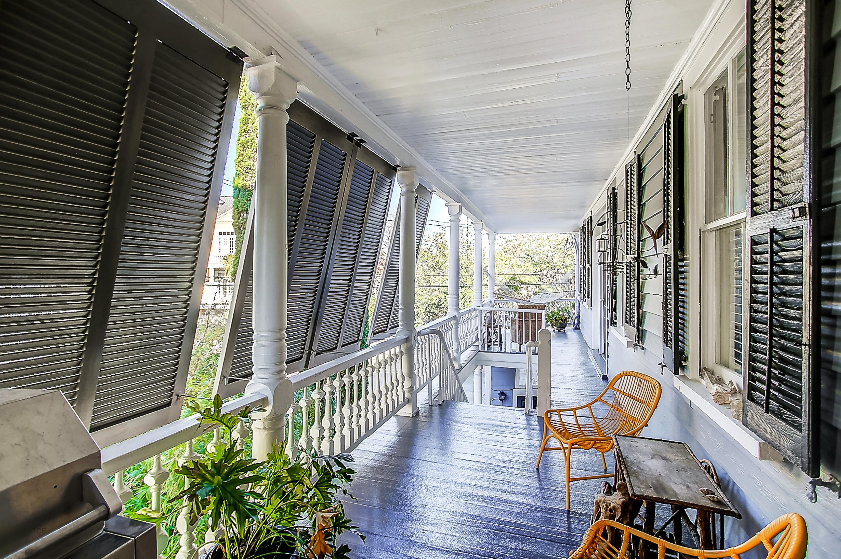 Upstairs porch at 27 Chapel Street