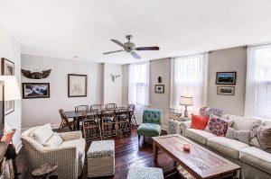 Living room at 27 Chapel Street