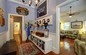 Mudroom & living room at 212 Freeman Street