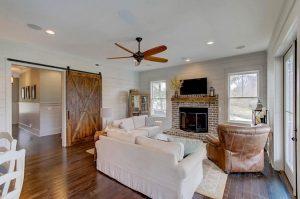 Sample living room at Porchers Bluff