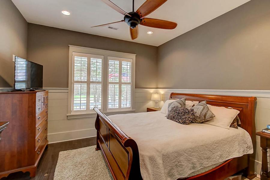 Sample bedroom at Porchers Bluff