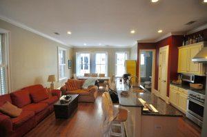 19 Jasper Street living room & kitchen